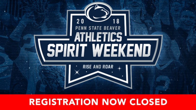 Spirit Weekend 2018 registration closed