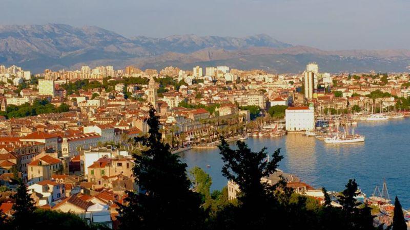 A view of the Croatian coastline.