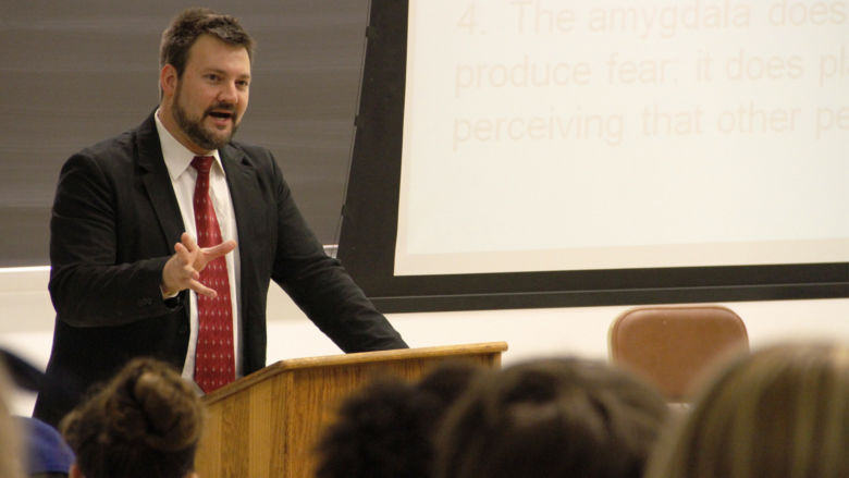 Kevin Bennett teaches a class