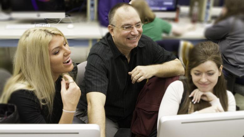 John Chapin teaches video editing