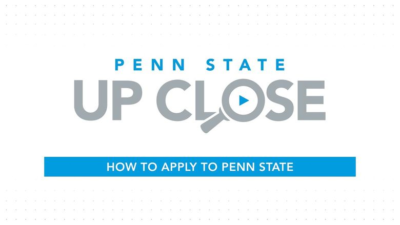 How to apply to Penn State